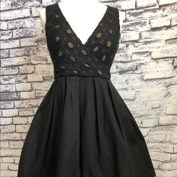 maginn Dresses & Skirts - Little Black Sexy Lace Fit Flare Pinup Dress